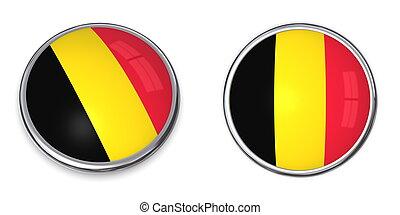 belgique, bouton, bannière
