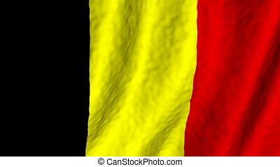 belgique, fond, faire boucle, drapeau