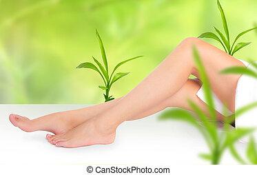 belle femme, jambes