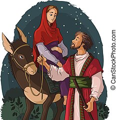 bethlehem, marie, joseph, âne