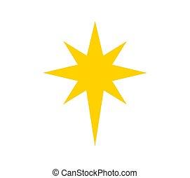 bethlehem, noël, symbole., étoile