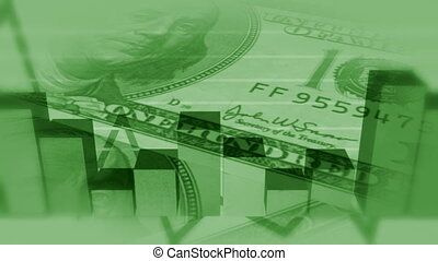 bg, argent, business, faire boucle, vert