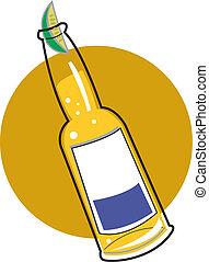 bière, art, bouteille, agrafe