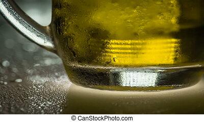 bière, embué, froid, hd, tasse
