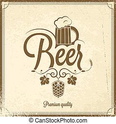 bière, fond