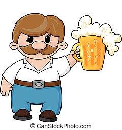 bière, homme