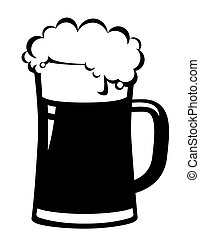 bière, noir, grande tasse