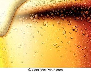 bière, rafraîchissant, fond, fizzy