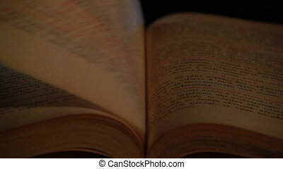 bible, vieux, slavonic, peu profond, langue, champ, profondeur