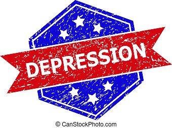bicolore, cachet, dépression, texture, timbre, hexagone, détresse