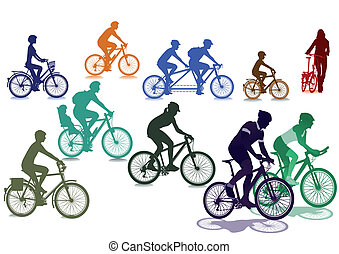 bicycles, cyclistes