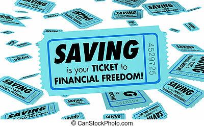 billet, croissant, argent économie, liberté, richesse, illustration, financier, 3d