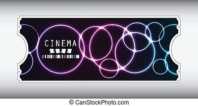 billet film, conception, spécial, plasma