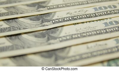 billets dollar, 100, closeup