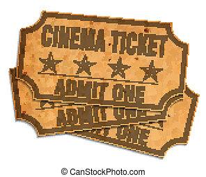billets, retro, cinéma