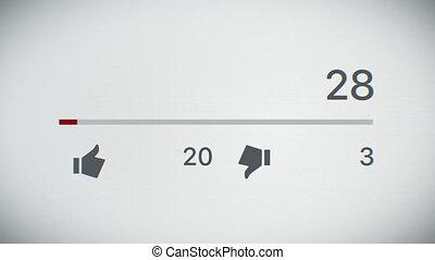 billion, gros plan, ultra, business, animation., compteur, views., 1, 4k, vidéo, hd, devant, vue., augmenter, technologie, concept., 3840x2160., 3d