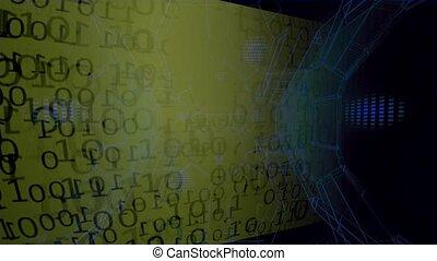 binaire, data., ruisseau, grand, résumé, -, fond, données, code.