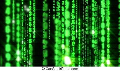binaire, matrice, données, numérique, informatique, fond, code