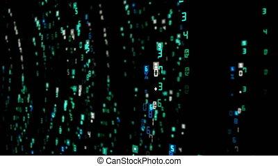 binaire, résumé, vidéo, fond, numérique