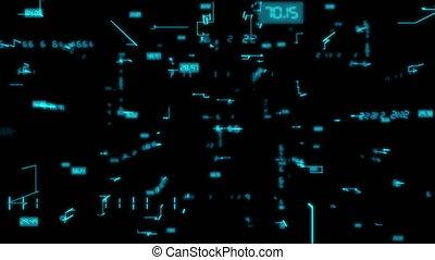 binaire, voler, creux, fond, ligne, technologie