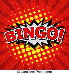 bingo!, comique, parole, bubble.