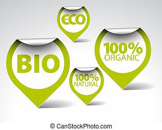 bio, étiquettes, nourriture, eco, naturel, organique, vert