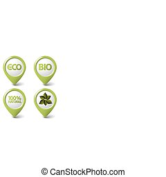 bio, ensemble, étiquettes, nourriture, eco, organique, naturel, vert