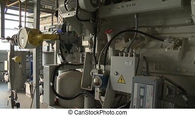bio, plante, équipement, génération, canaux transmission, essence, eau, installations, traitement, réservoirs