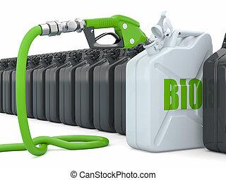 biofuel., lance, pompe gaz, jerrycan