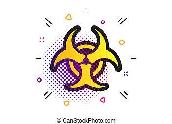 biohazard, danger, vecteur, symbole., icon., signe