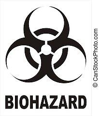 biohazard, noir, signe