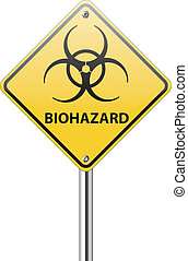 biohazard, panneau de signalisation