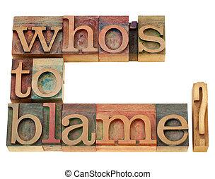 blâme, question