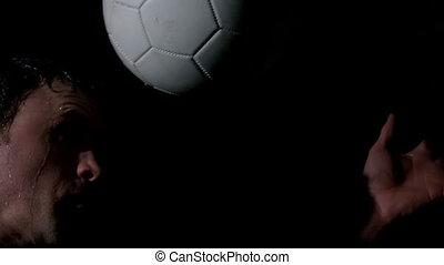blac, titre, footballeur, balle