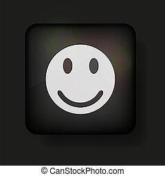 black., vecteur, eps10, icône, figure