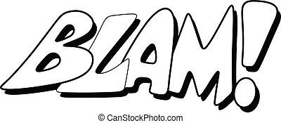 blam, comique, -, expression