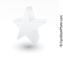 blanc, étoile, fond, 3d