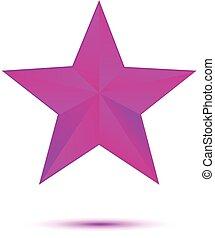 blanc, étoile, violet