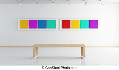 blanc, art, contemporain, galerie