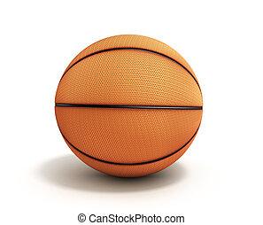 blanc, basket-ball, fond, render, 3d
