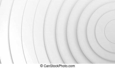 blanc, bobines, en mouvement, 3d, contre, spirale, fond