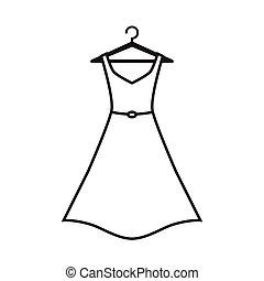 blanc, cintre, robe