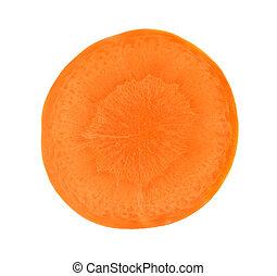 blanc, couper, carotte, isolé, fond