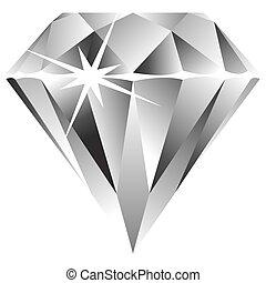 blanc, diamant, contre