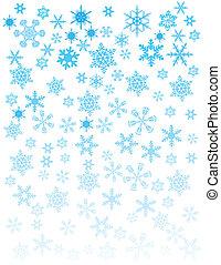 blanc, flocons neige, fond