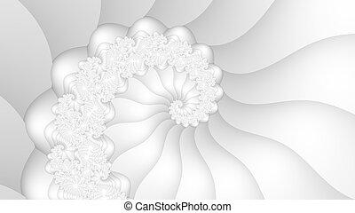 blanc, fractal, spirale, fond