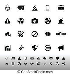 blanc, général, utile, fond, icônes