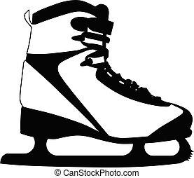 blanc, isolé, fond, patins