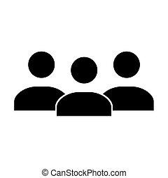blanc, isolé, icône, conception, gens, fond, logo