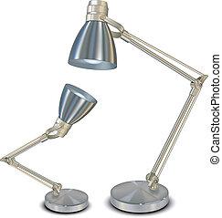 blanc, lampes